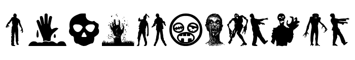 Zombie Salad Font UPPERCASE