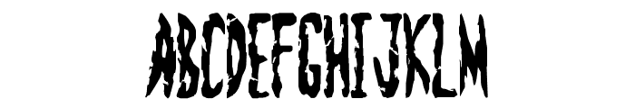 Zombie Shooting Font LOWERCASE