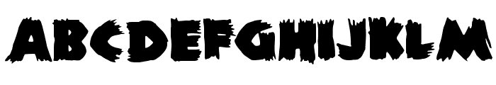 ZombieA Font LOWERCASE