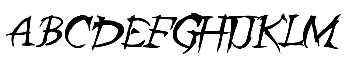 ZombieGirlfriend Font UPPERCASE