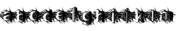 ZombieScratch Font LOWERCASE