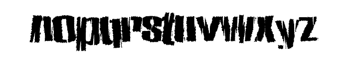 ZombieState Font LOWERCASE