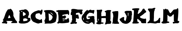 Zombiebites Font UPPERCASE