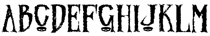 Zombified Font UPPERCASE