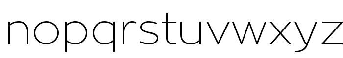 ZonaPro-Thin Font LOWERCASE