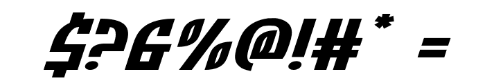 Zone Rider Xtra-Expanded Italic Font OTHER CHARS
