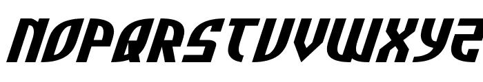 Zone Rider Xtra-Expanded Italic Font UPPERCASE