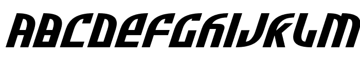 Zone Rider Xtra-Expanded Italic Font LOWERCASE