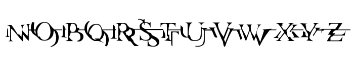 Zone23_zazen matrix Font UPPERCASE