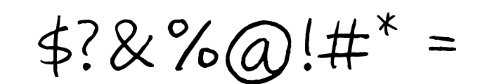 Zooeys Diary Font OTHER CHARS