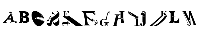 Zoography Regular Font UPPERCASE