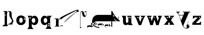 Zoography Regular Font LOWERCASE