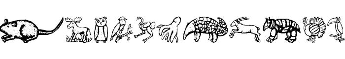 ZoologicalGardenTwo Font UPPERCASE