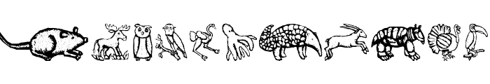 ZoologicalGardenTwo Font LOWERCASE