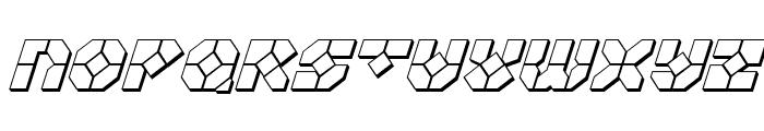 Zoom Runner 3D Italic Font UPPERCASE