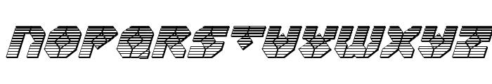Zoom Runner Chrome Italic Font UPPERCASE