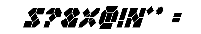 Zoom Runner Condensed Italic Font OTHER CHARS