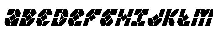 Zoom Runner Condensed Italic Font UPPERCASE