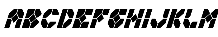 Zoom Runner Condensed Italic Font LOWERCASE