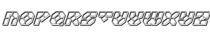 Zoom Runner Engraved Italic Font UPPERCASE