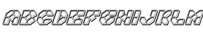 Zoom Runner Engraved Italic Font LOWERCASE