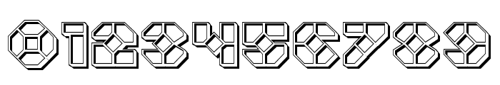 Zoom Runner Engraved Font OTHER CHARS