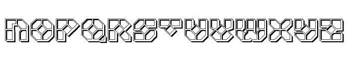 Zoom Runner Engraved Font UPPERCASE