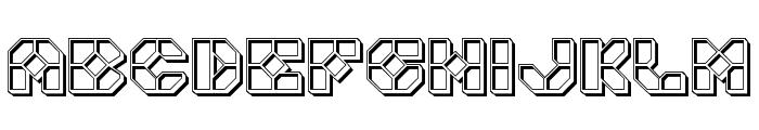 Zoom Runner Engraved Font LOWERCASE