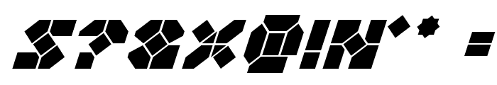 Zoom Runner Italic Font OTHER CHARS