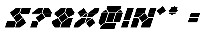 Zoom Runner Laser Italic Font OTHER CHARS