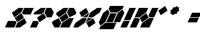 Zoom Runner Super-Italic Font OTHER CHARS