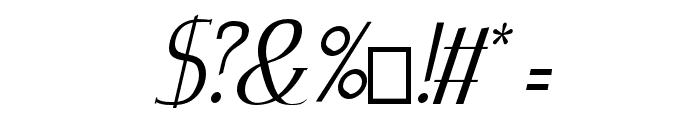 Zorus Serif Italic Font OTHER CHARS