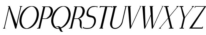 Zorus Serif Italic Font UPPERCASE
