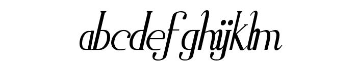 Zorus Serif Italic Font LOWERCASE