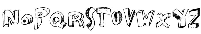 Zou Font LOWERCASE