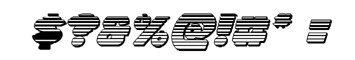 Zounderkite Chrome Italic Font OTHER CHARS