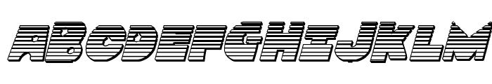 Zounderkite Chrome Italic Font UPPERCASE