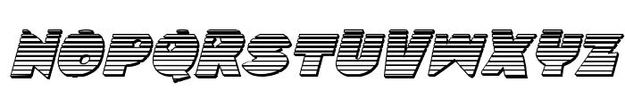 Zounderkite Chrome Italic Font LOWERCASE