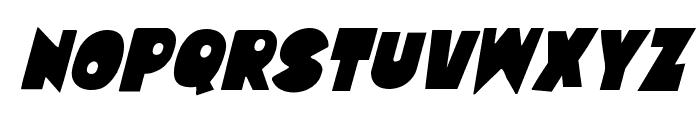 Zounderkite Condensed Italic Font UPPERCASE