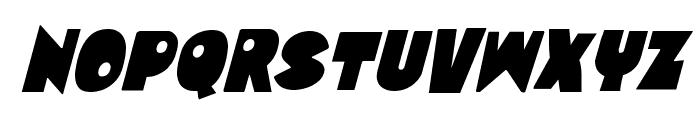 Zounderkite Condensed Italic Font LOWERCASE