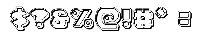 Zounderkite Engraved Font OTHER CHARS