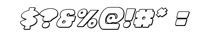 Zounderkite Outline Italic Font OTHER CHARS