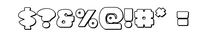 Zounderkite Outline Font OTHER CHARS