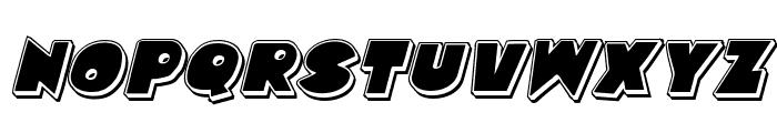 Zounderkite Punch Italic Font UPPERCASE