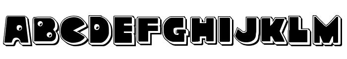 Zounderkite Punch Font LOWERCASE