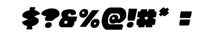 Zounderkite Semi-Italic Font OTHER CHARS