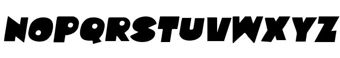 Zounderkite Semi-Italic Font UPPERCASE