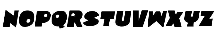 Zounderkite Semi-Italic Font LOWERCASE