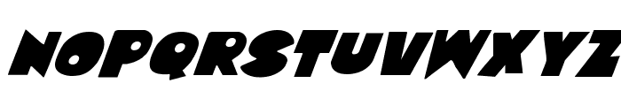 Zounderkite Super-Italic Font UPPERCASE