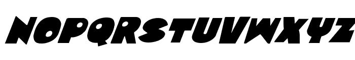 Zounderkite Super-Italic Font LOWERCASE